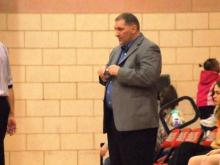 Athens Drive coach Chris Danehower looks on as his team defeats Middle Creek on Jan. 22, 2010.