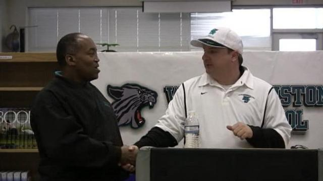 Video: Randy Ragland introduced as new West Johnston football coach