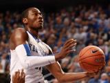 Raleigh native John Wall drives during the first half at Rupp Arena (Photo by Jack Morton).