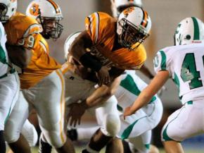 Swarming defenses ruled the game in the 6 to 0 win for Fuquay against Cary Friday night November 12, 2010.