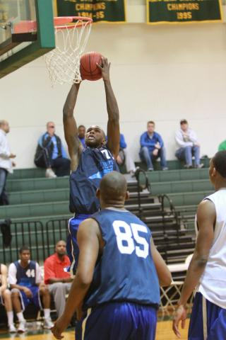 Tyrone Outlaw of Person High School at Dave Telep's 5th annual Carolina Challenge held at Ravenscroft High School on Saturday, March 26. (photo by Will Okun)