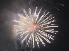 NC East-West All-Star Football Game fireworks spectacular