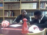R.J. Quick signs with WSSU