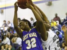 East Wake girls basketball player Shakerrya Morrison verbally committed to NC A&T.