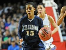 Millbrook won the 4A girls state championship in going away fashion over West Forsyth.
