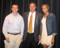 2012 TEAF scholarship winners Joe Mitchell and Alexis Perry