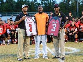 Middle Creek retired Rashawn King's jersey in a ceremony before the game.  The game was suspended because of thunderstorms.