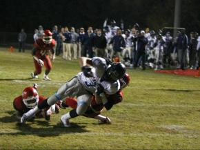 Sheldon Cooper (3) rushes into the end zone during the Hoggard vs. Southern game on November 2, 2012 in Durham, North Carolina.