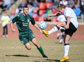Joshua Kennedy (11) for Green Hope.  Green Hope High School defends their state title with a 2 to 0 final score.
