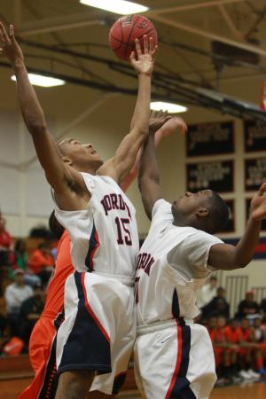 Jordan High School defeated Orange High School 47-46 on Friday, Dec. 7 (photo by WIll Okun).