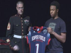 Millbrook's Corey Cooper accepted his invitation to the Semper Fidelis All-American Bowl on Tuesday, Dec. 11, 2012.