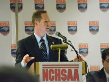 The NCHSAA held its annual state championship press conference in Chapel Hill on Monday morning.