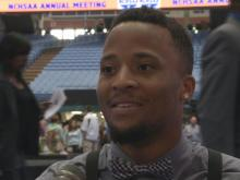 Interview: Marquavious Johnson reacts to winning Athlete of the Year award