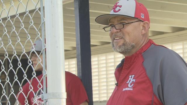 Hoke County baseball coach Mike Ray
