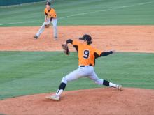 Brett Daniels pitches for Fuquay Varina High School and has committed to UNC-Chapel Hill.
