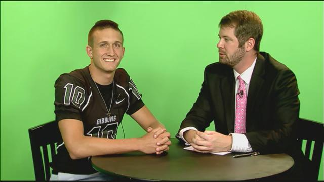 Gibbons quarterback speaks to James Alverson