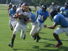 Cleveland High School hosted Holly Springs, Gray's Creek and Lumberton for a football scrimmage Tuesday morning.