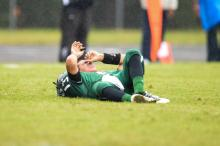 Green Hope quarterback Chris Tutwiler was injured during the HighSchoolOT Jamboree.