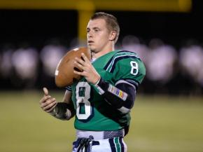 Leesville Road's Braxton Berrios warms up during halftime of the Pride's game against Apex.