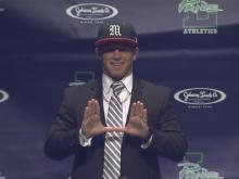 Braxton Berrios announces commitment to Miami during press conference