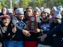 Southern Durham held a pep rally to accept the championship trophy of Tom Suiter's Fabulous 15.