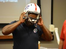 Wake County football coaches and athletic trainers went through day-long training on Thursday as part of the USA Football Heads Up Football program.