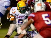 The East and West football teams finished in a 10-10 tie in the NCCA East-West All-Star Game on Wednesday, July 23, 2014.