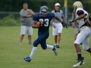 Football: Heritage hosts Apex, Williams (Aug. 11, 2014)