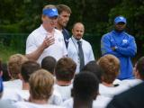 NFL Commissioner Roger Goodell visits Wake Forest High School (S