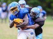 Garner, Panther Creek meet for combined practice, scrimmage (Aug. 11, 2015)