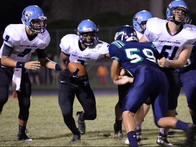 Football: Panther Creek vs Leesville Rd. (Aug. 28, 2015)