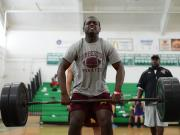 Football: Cary hosts weightlifting challenge (June 29, 2016)
