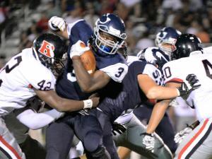 Football: Rolesville vs Heritage (Aug. 26, 2016)