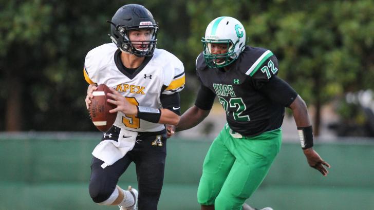 Football: Apex vs. Cary (Sept. 16, 2016)