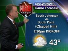 Football forecast: Cold, chance of rain