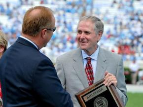 Tom Suiter honored at halftime of UNC game