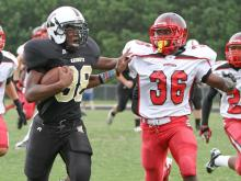 Knightdale hosts Middle Creek during the HighSchoolOT.com 2012 Football Jamboree