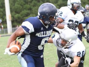 Millbrook High School scrimmaged Panther Creek High School