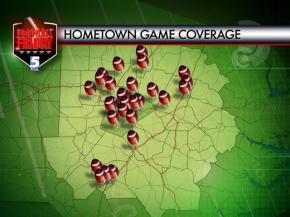 Football Friday October 18 Coverage Map