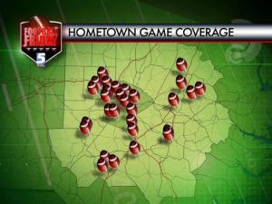 Football Friday coverage map Aug. 23, 2014