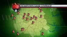 Hometown Game Coverage Map (Nov. 21, 2014)