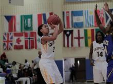 Images from Rocky Mount's comeback win over East Wake in the consolation portion of the Mix 101.5 Girls Bracket in the HighSchoolOT.com Holiday Invitational.