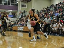 Apex senior T.J. Evans is the three-time conference player of the year.