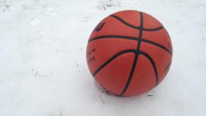 Basketball in snow