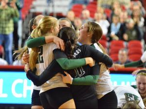 Volleyball: 3-A State Cardinal Gibbons vs West Henderson (Nov. 1
