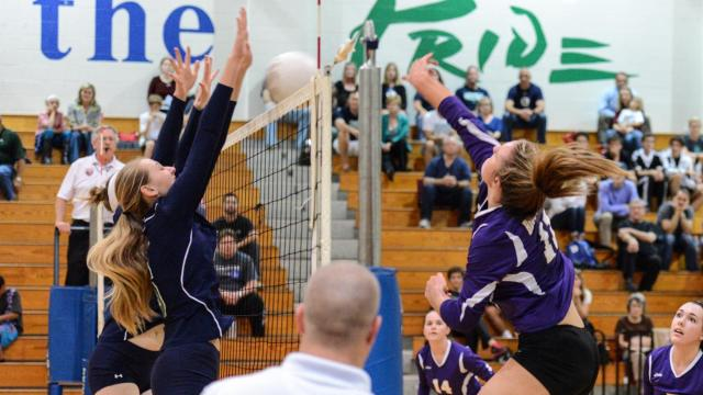 With a 3-0 (25-18, 25-13, 25-17) win over Leesville Road, Broughton has ensured itself at least a share of the Cap 8 volleyball title. The match was played at Leesville Road on Oct, 13, 2015. (Photo By: Nick Stevens/HighSchoolOT.com)