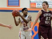 Girls Basketball: Athens Drive vs. Green Hope (Feb. 28, 2015)