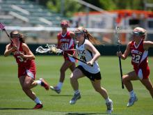 Apex's girls lacrosse team came up short against Charlotte Catholic, falling in the state championship game, 10-9.