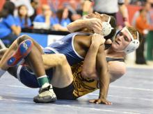 A number of local wrestlers competed in championship matches on Saturday in the NCHSAA individual wrestling state championships.