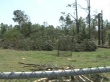 Raw: Tornado sweeps N. Johnston parking lot